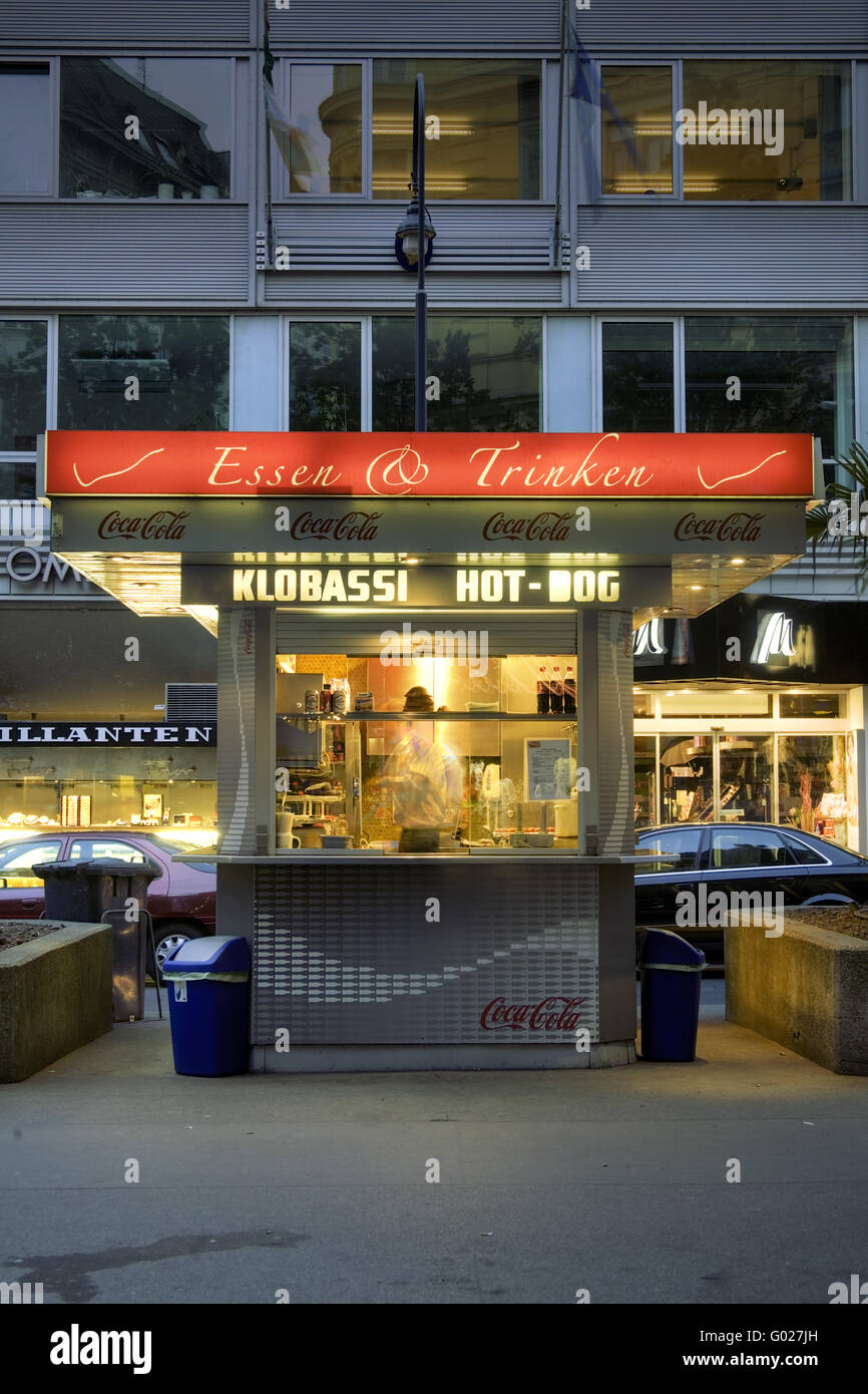 wurst stand in Vienna - Stock Image