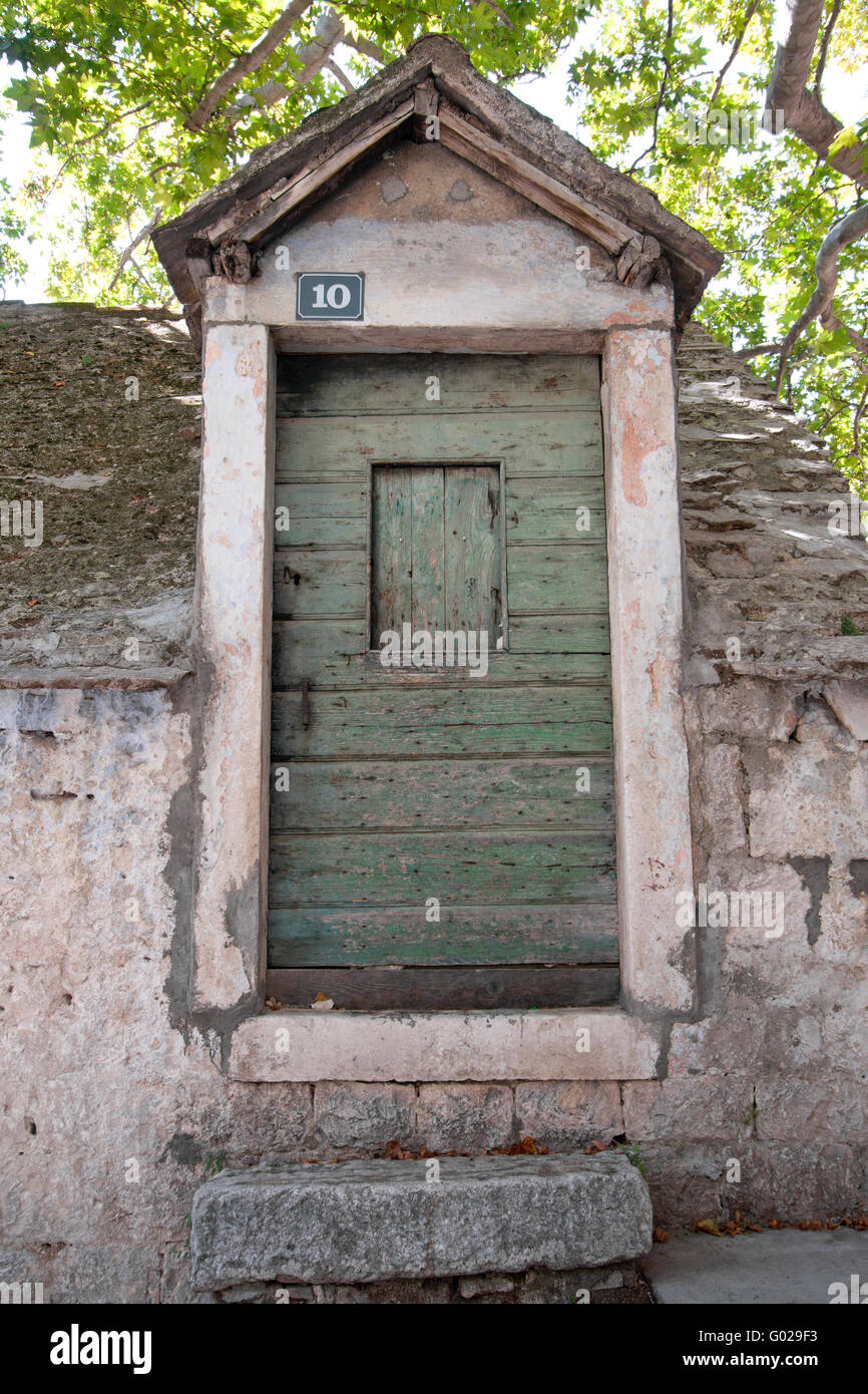Doors 0333. Croatia - Stock Image