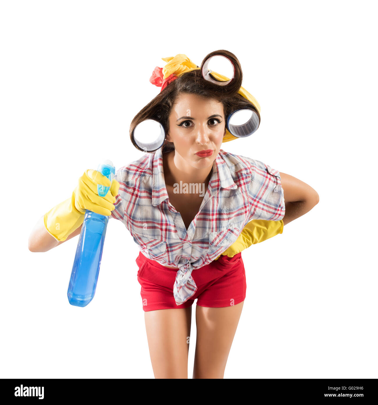 Simpering housewife - Stock Image