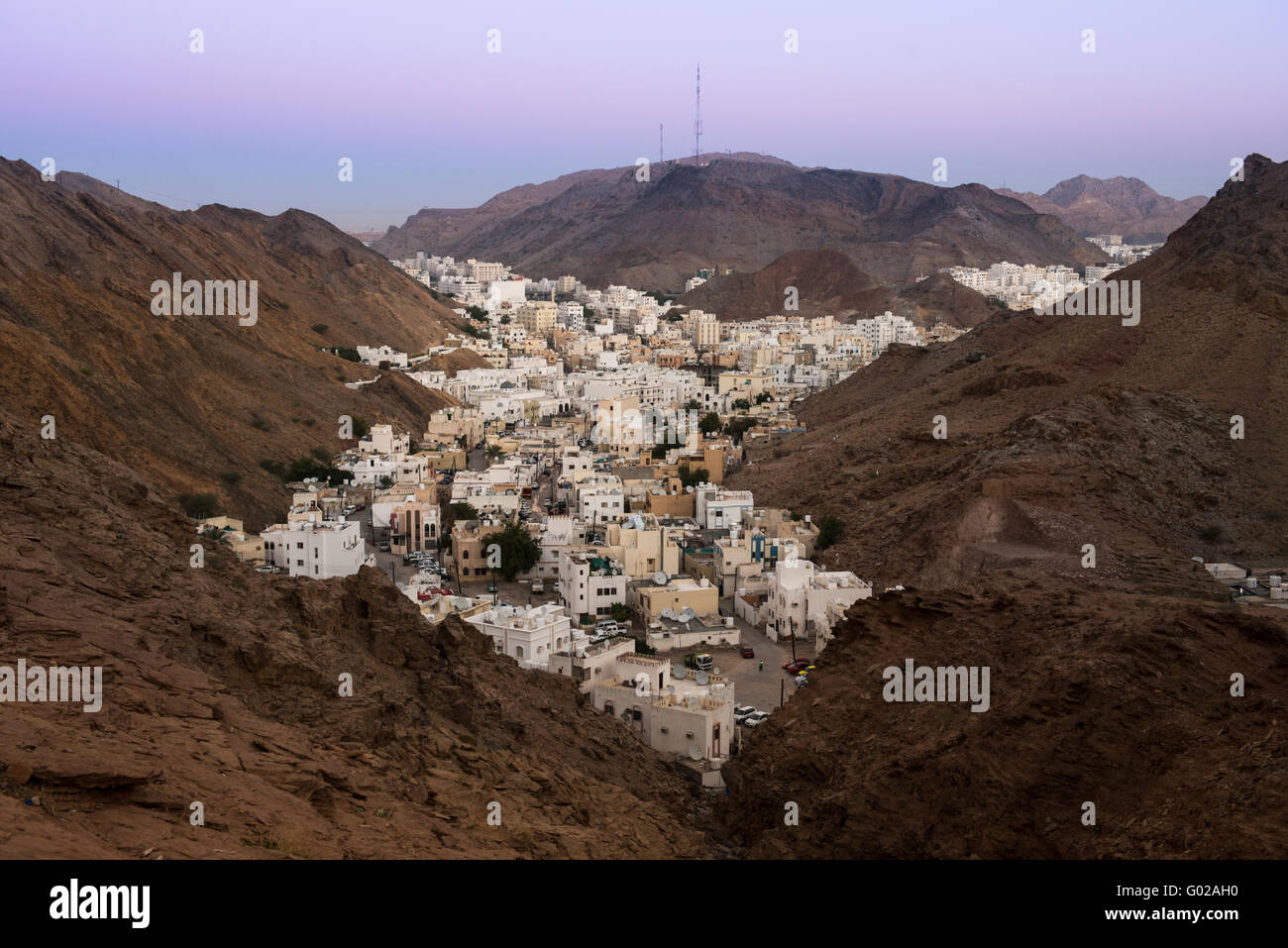 Overlooking Muscat, capital of Oman Stock Photo: 103314428 - Alamy