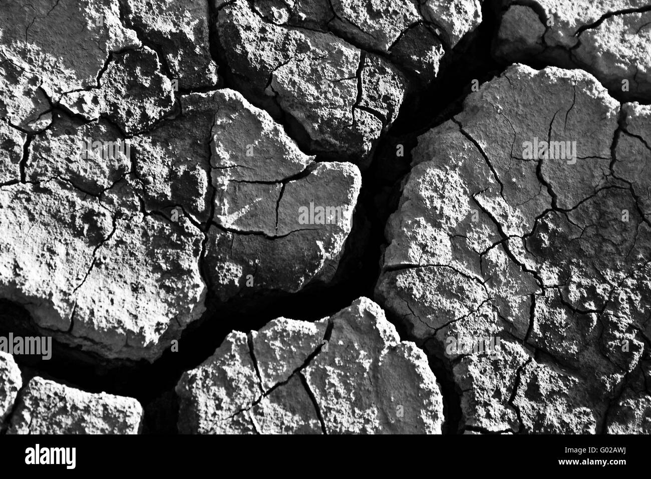 The soil in the fissures appeared on the long-term heat - Stock Image