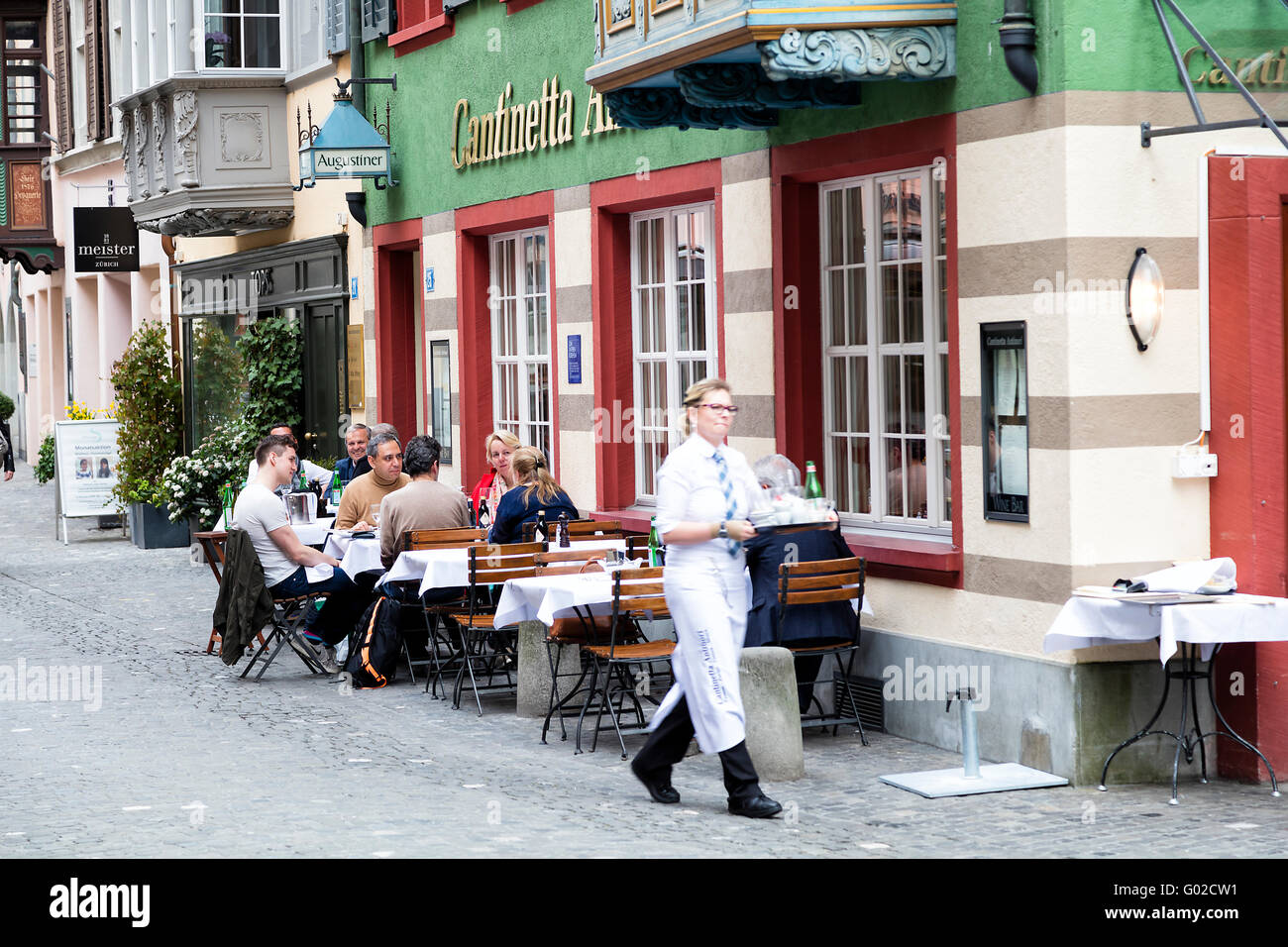 Restaurant in Zurich City, Switzerland - Stock Image