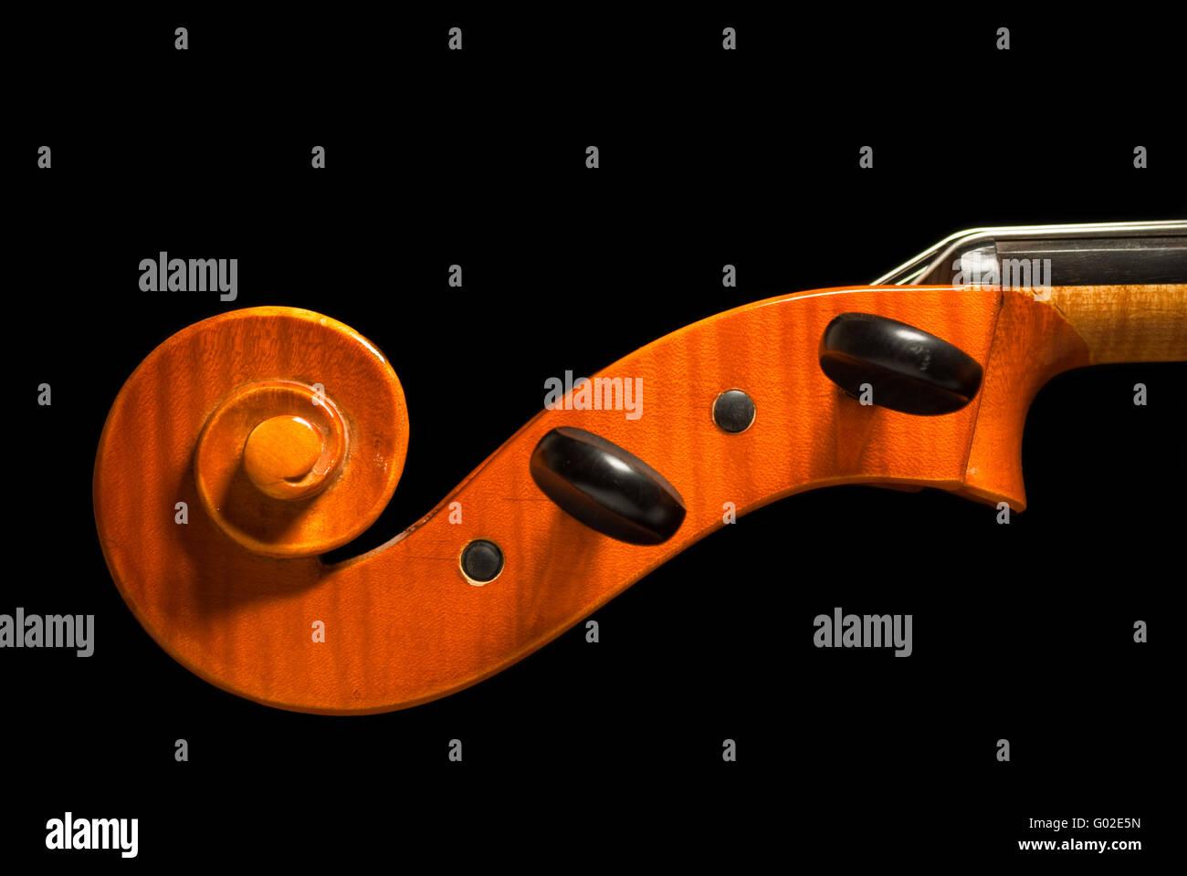 Head of a cello - Stock Image