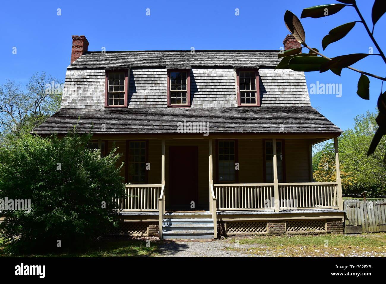 Bath North Carolina 1790 Van Der Veer Dutch Colonial Home With Stock Photo Alamy