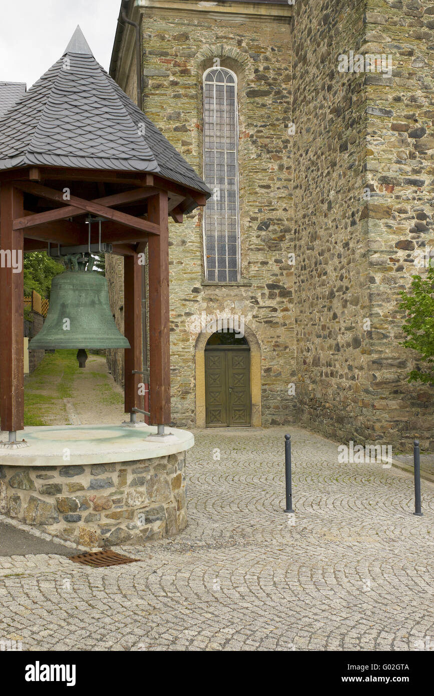 church bell of the town Hirschberg / Thuringia - Stock Image
