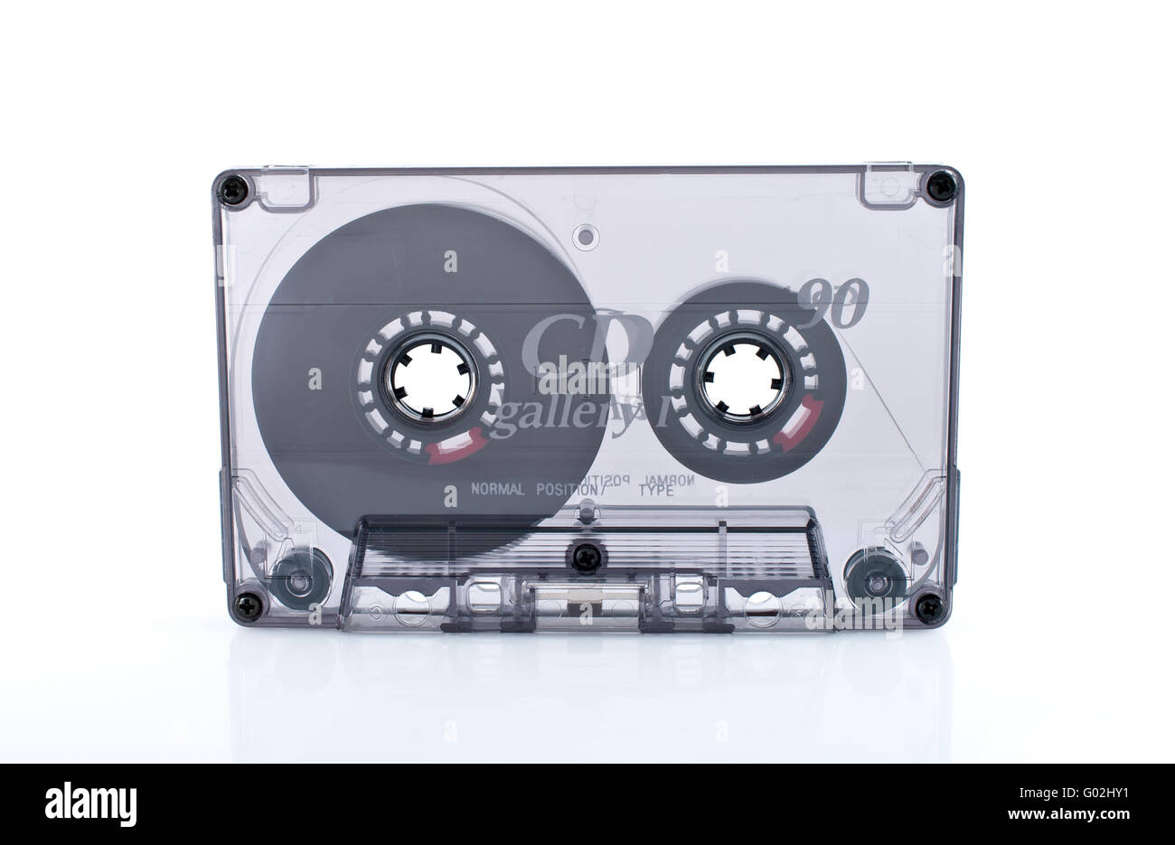Old  cassette tape isolated over white background - Stock Image
