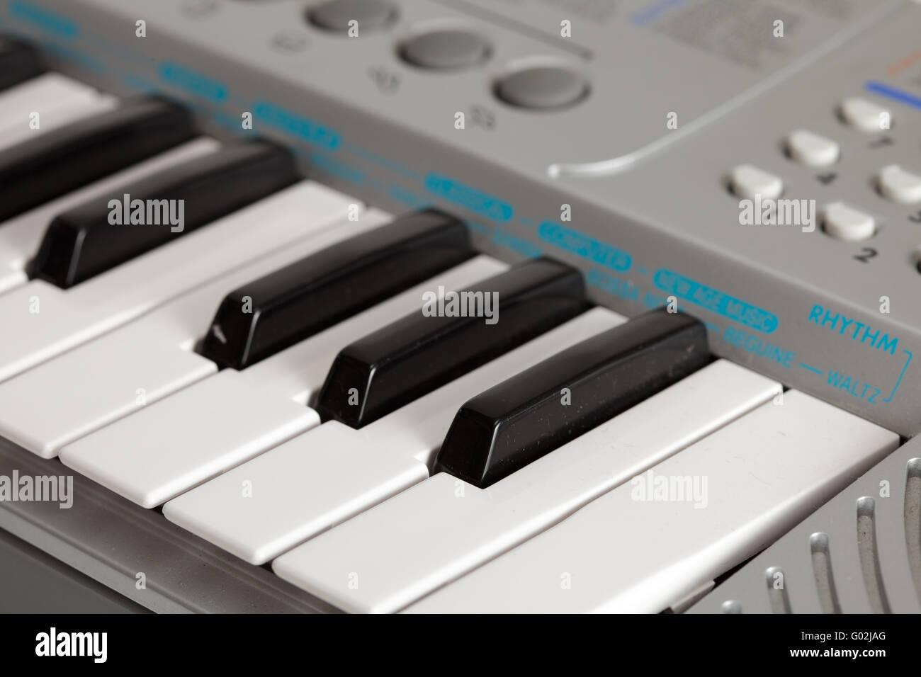 synthesizer on white background. isolated object - Stock Image
