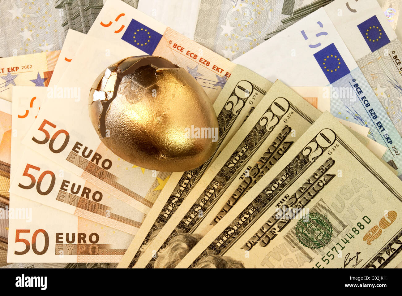 Connected World, Connected Currencies - Stock Image