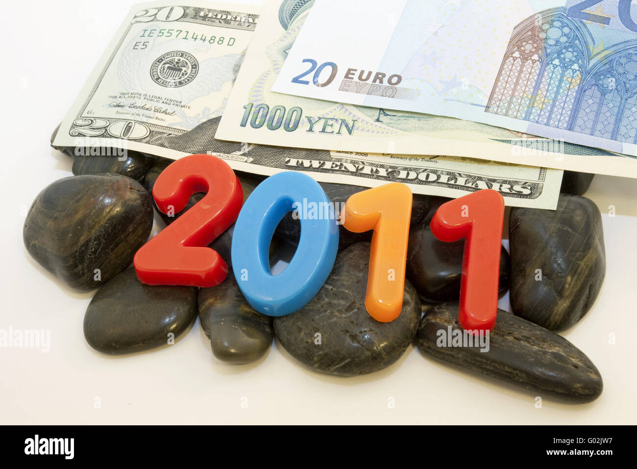 2011 Rocky Global Currencies - Stock Image