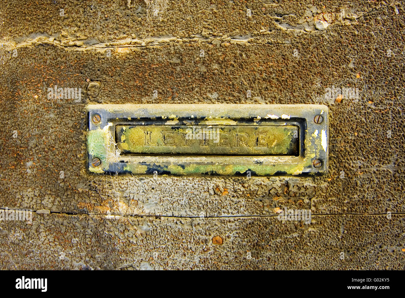 Mail box of an abandoned house - Stock Image