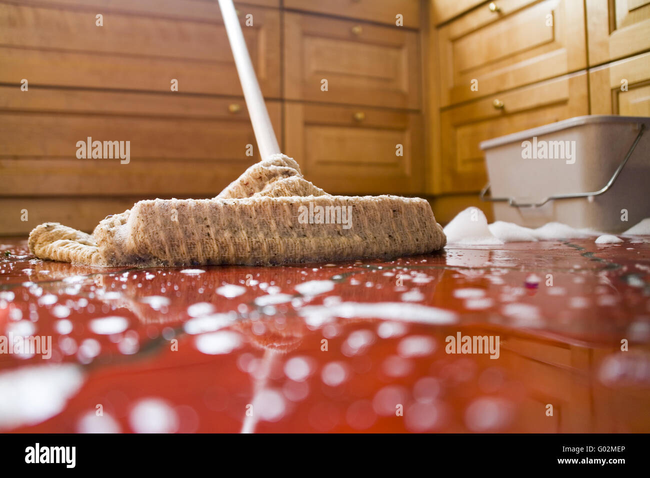 Floor cleaning - Stock Image