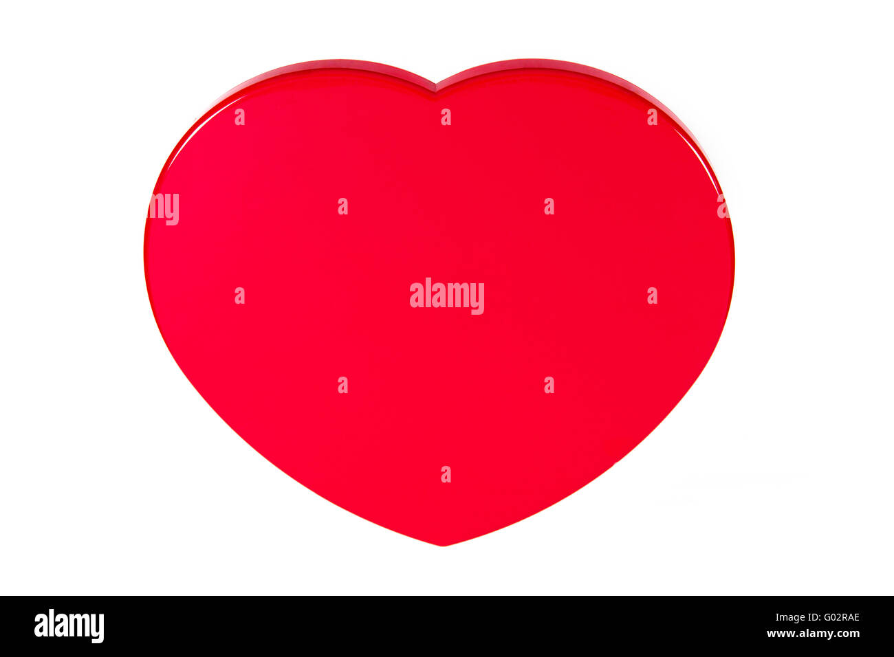 The heart image, as symbol all enamoured, isolated, on a white background - Stock Image