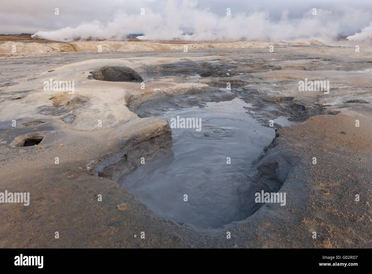 Iceland, mudpot at Hverarönd - Stock Image
