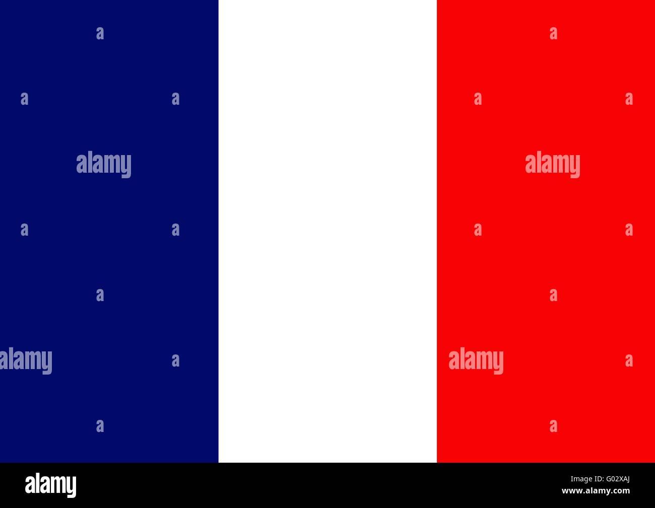 French flag - Stock Image