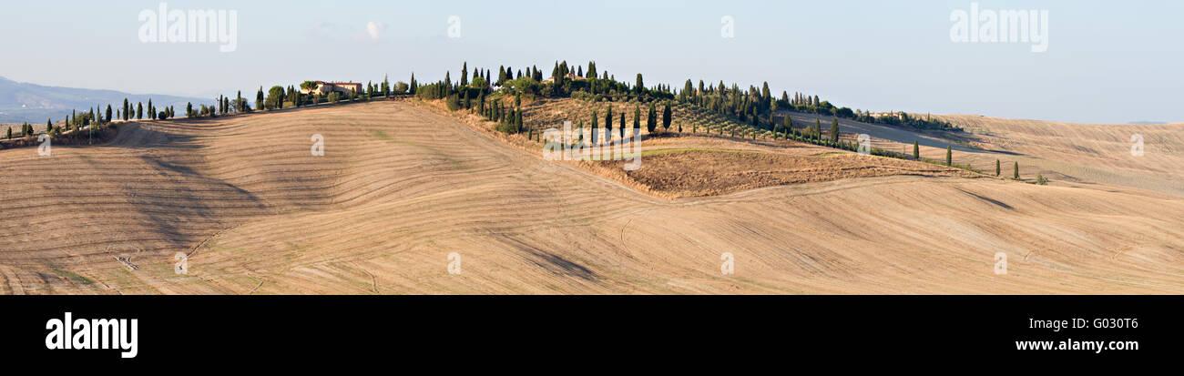 Landscape Crete Senesi Stock Photo