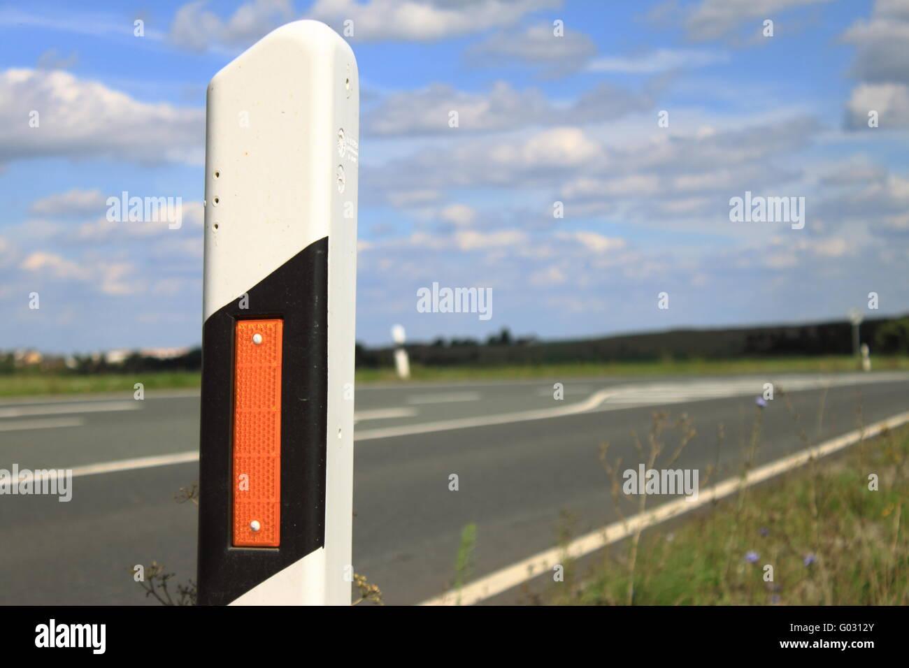 Strassenmarkierung-road marking Stock Photo
