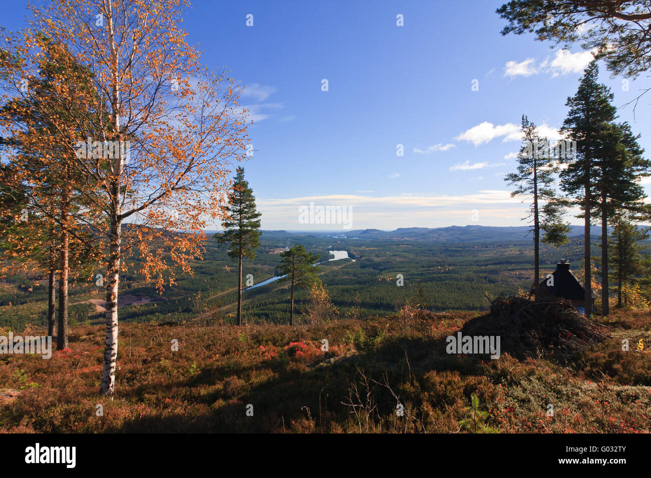 view from wasa mountain sweden - Stock Image