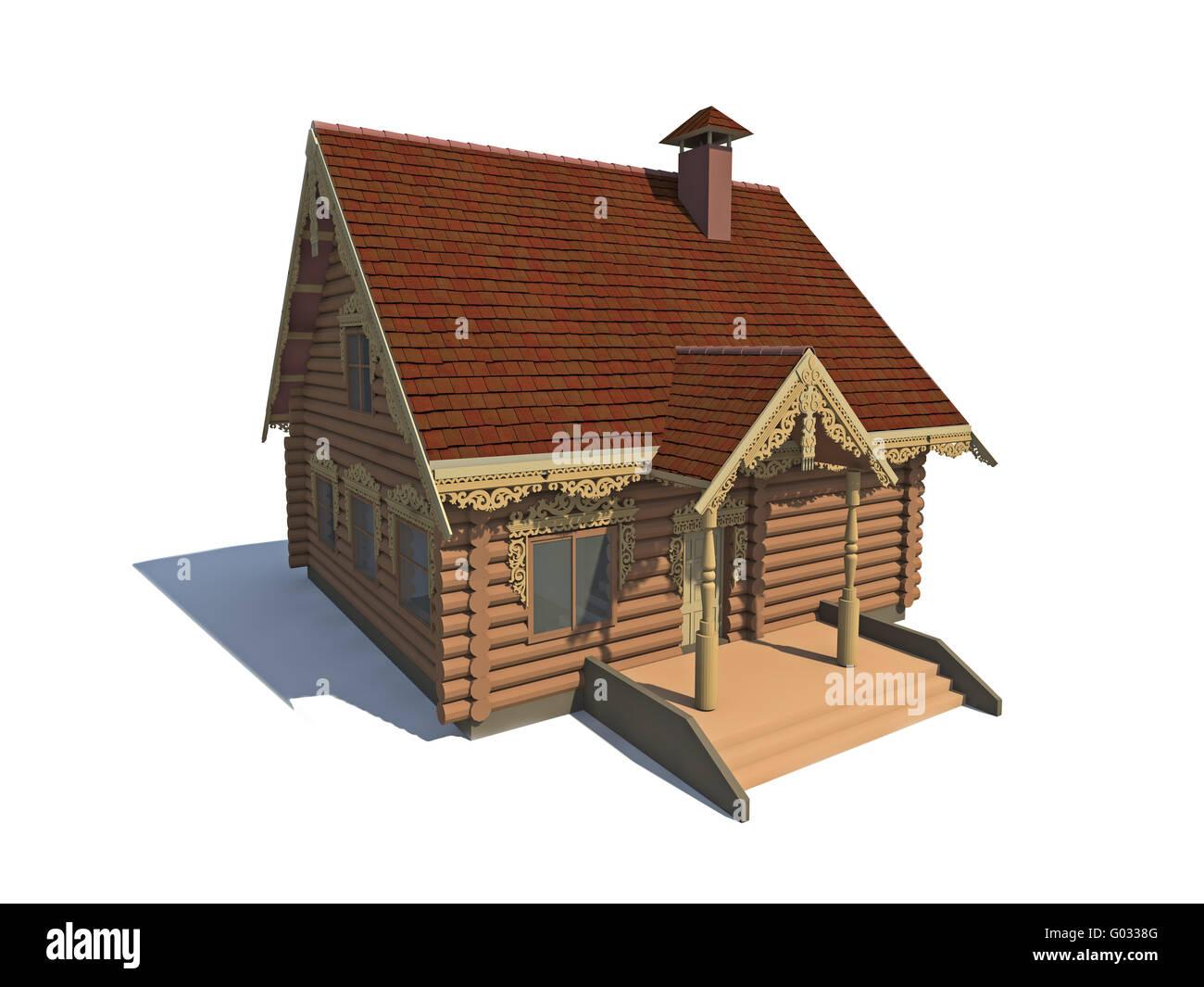 Cottage Wood - Stock Image