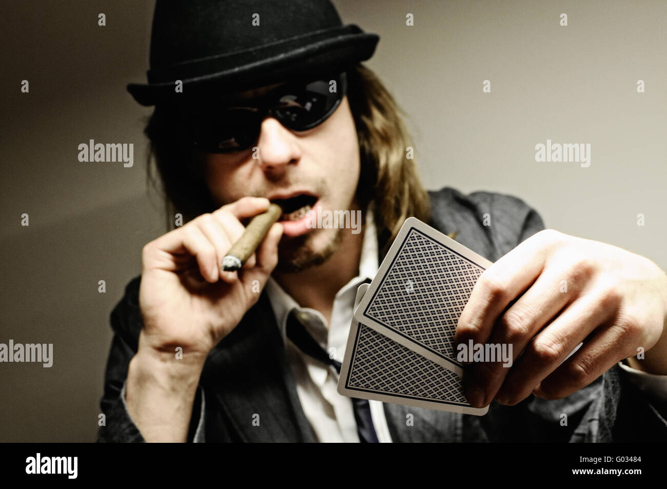 Poker game - Stock Image