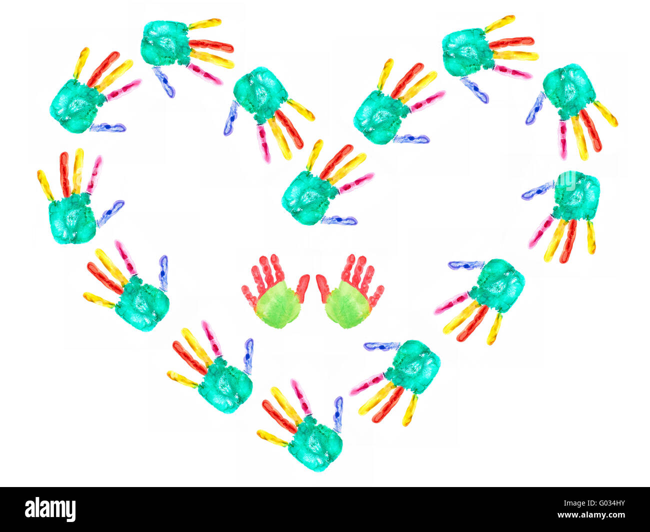 hands forming heart - Stock Image