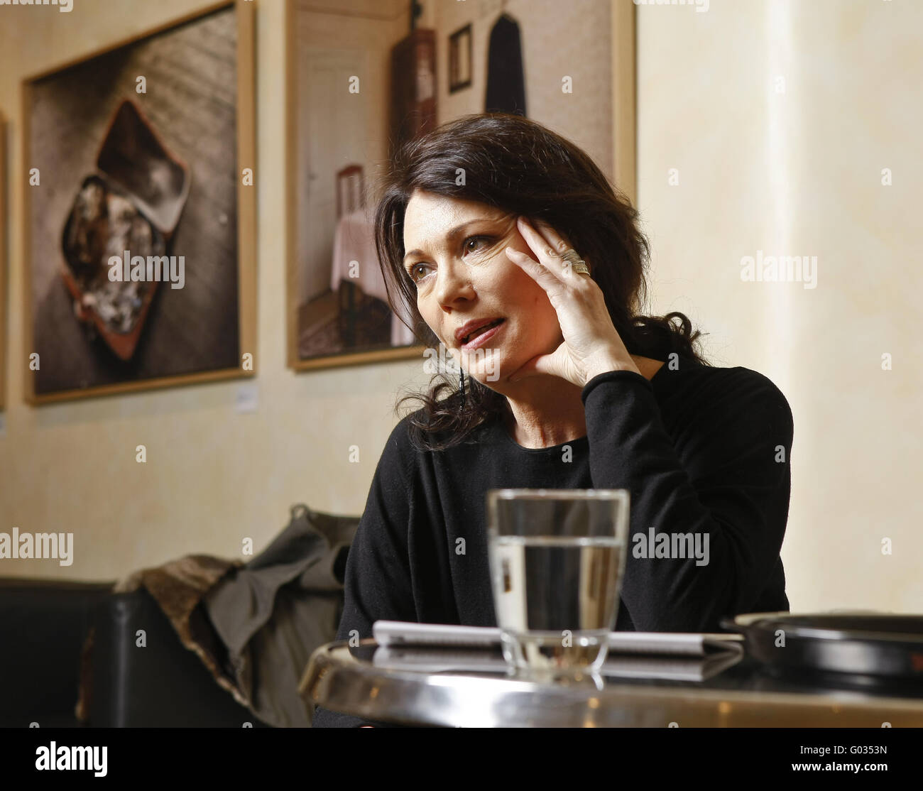 German actress Iris Berben - Stock Image