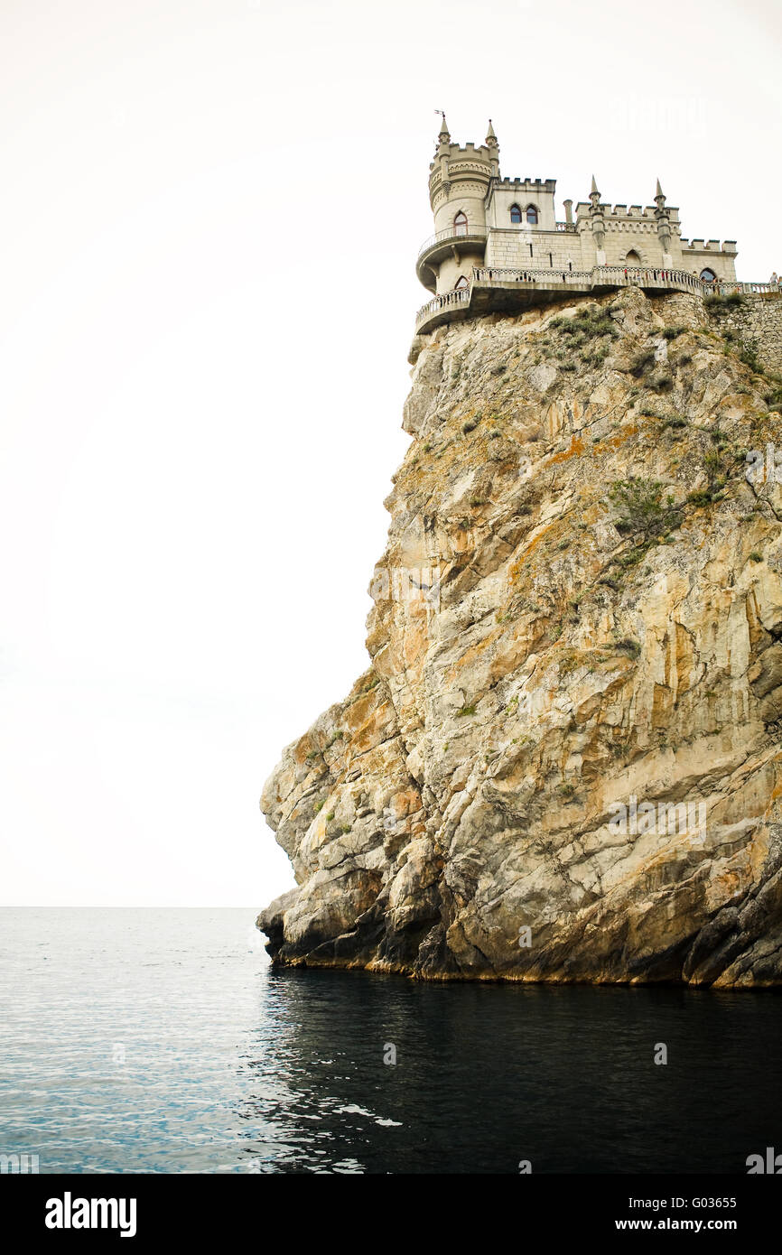 Castle on cliff - Stock Image