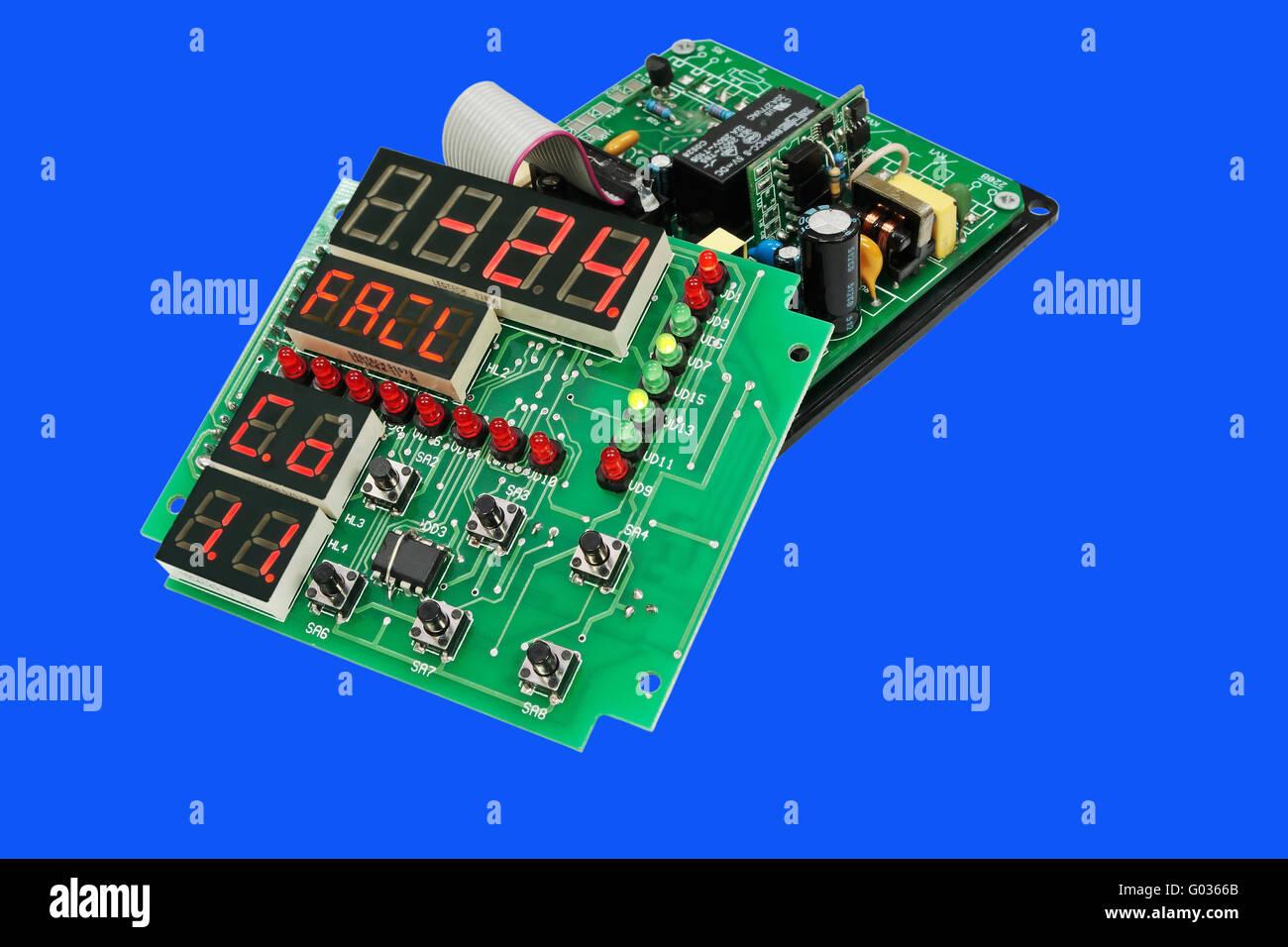 Disassembled electronic device. - Stock Image