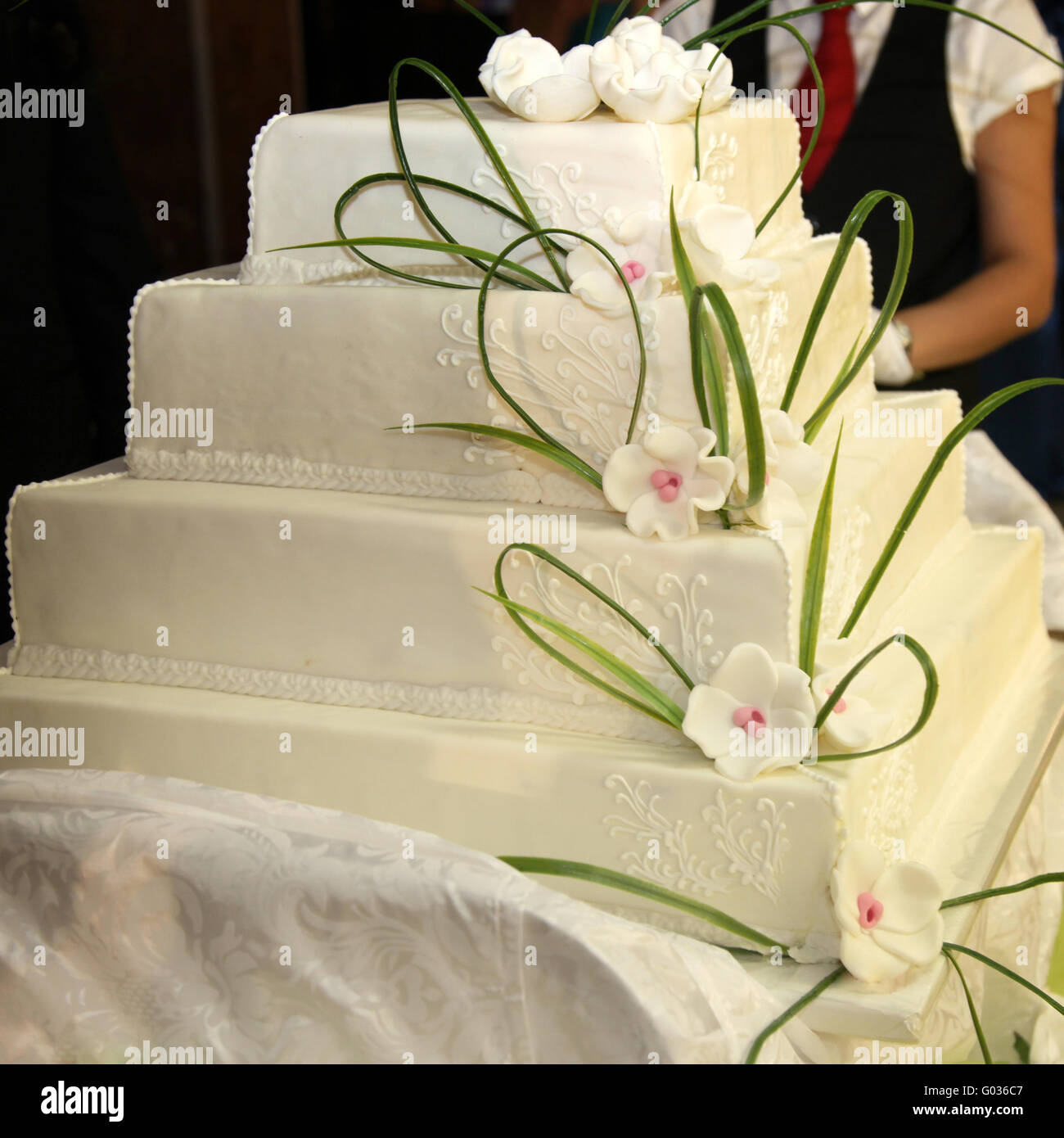 Admirable Huge Wedding Cake Or Birthday Cake English Style Stock Photo Funny Birthday Cards Online Alyptdamsfinfo