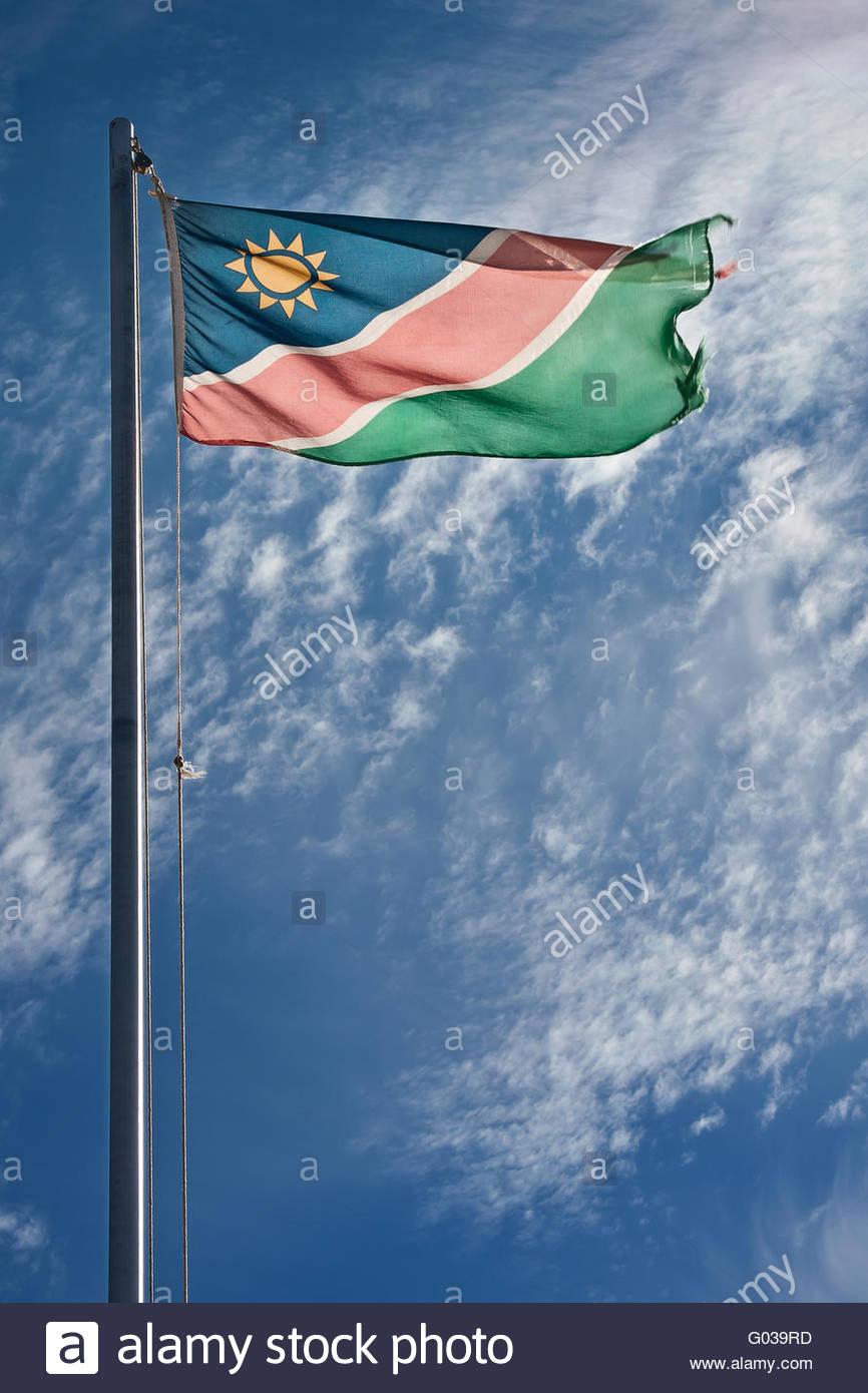 flag of namibian - Stock Image