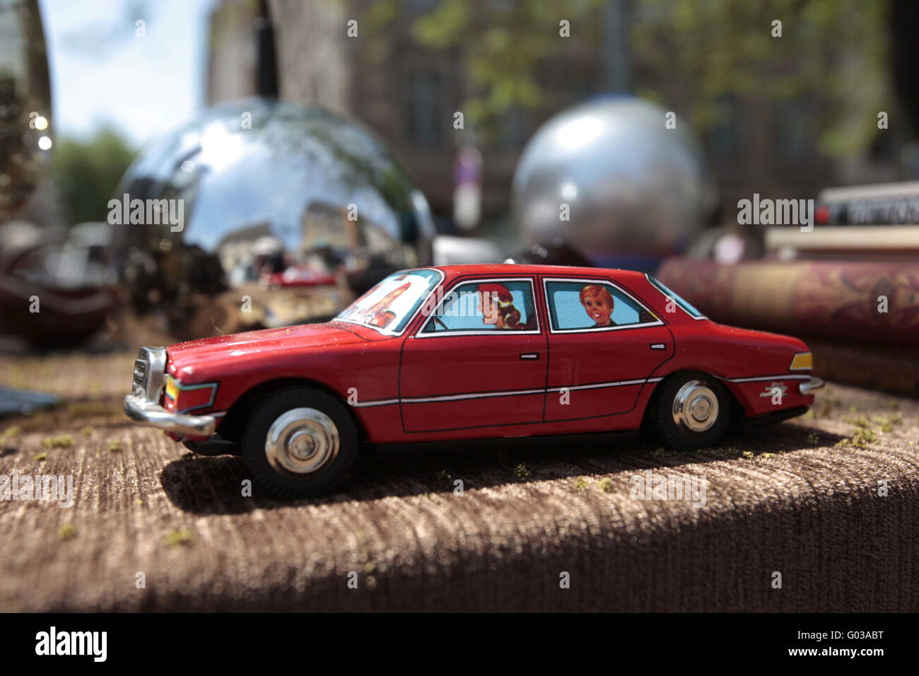 France car boot sale car play toys - Stock Image