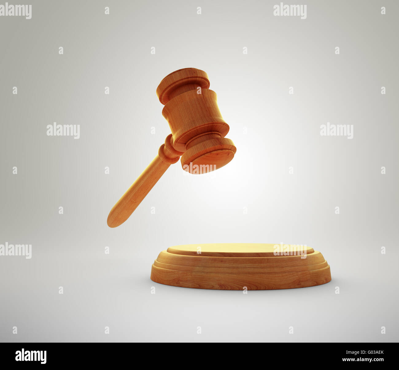 Gavel - auction bidding or justice concept image - Stock Image