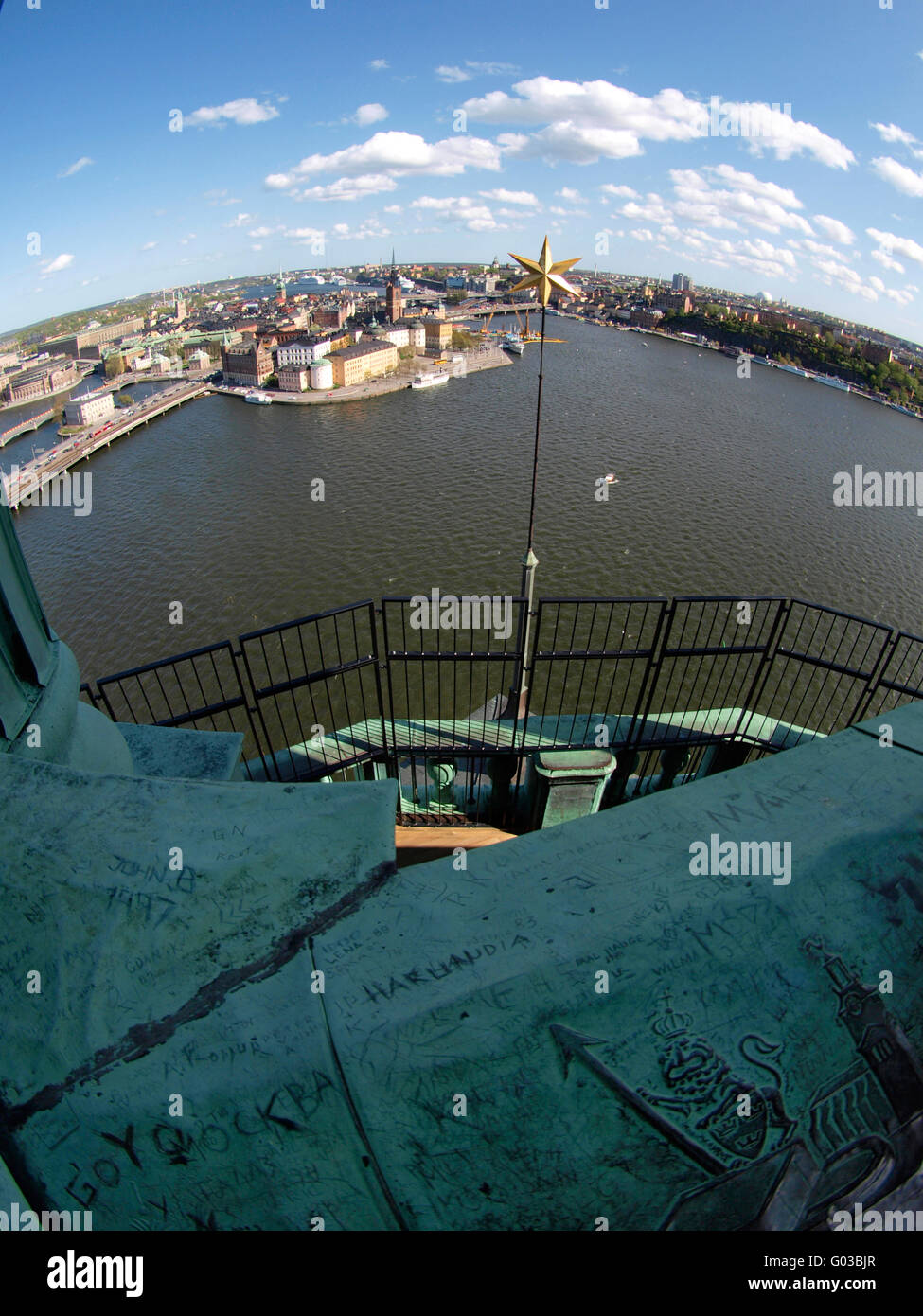 View from the Stockholm City Hall - Stock Image