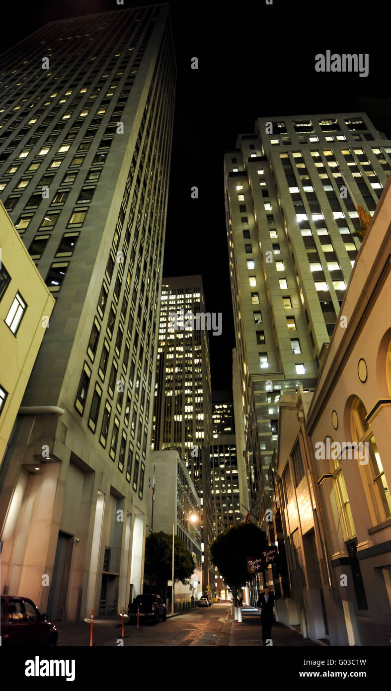 alley way in downtown san francisco - Stock Image