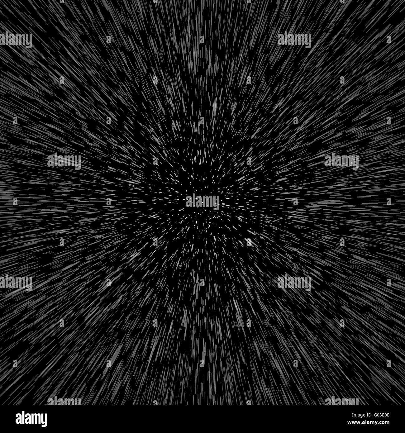Stars, Space Warp - Stock Image