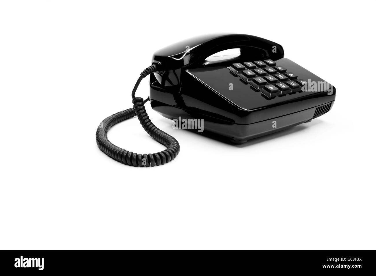 Classic telephone from the eighties - Stock Image