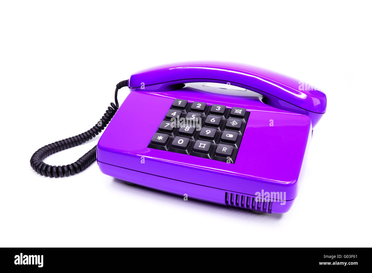 Classic telephone from the eighties Stock Photo
