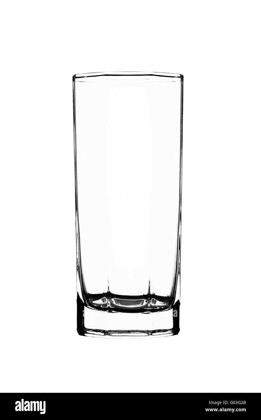 Empty glass isolated on a white background - Stock Image