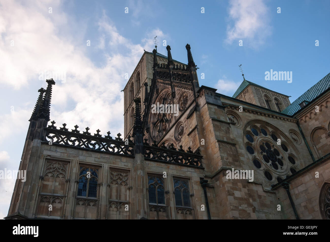 View of the St.-Paulus- Cathedral in Muenster, Ger - Stock Image