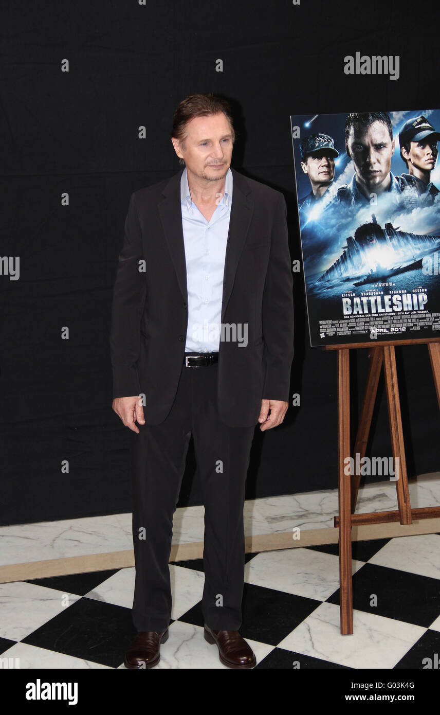 Photocall The Grey and Battleship with Liam Neeson - Stock Image