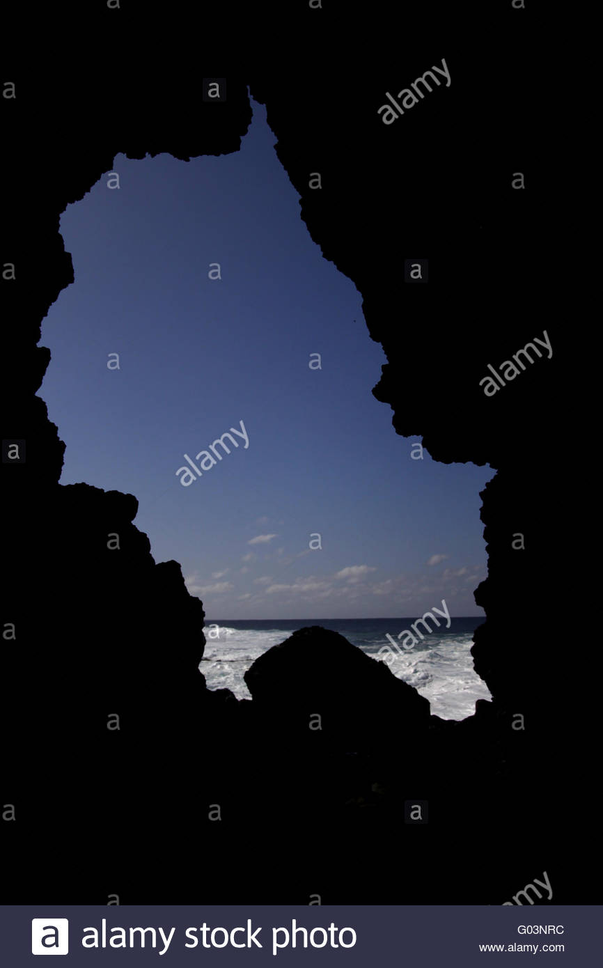 island silhouette - Stock Image