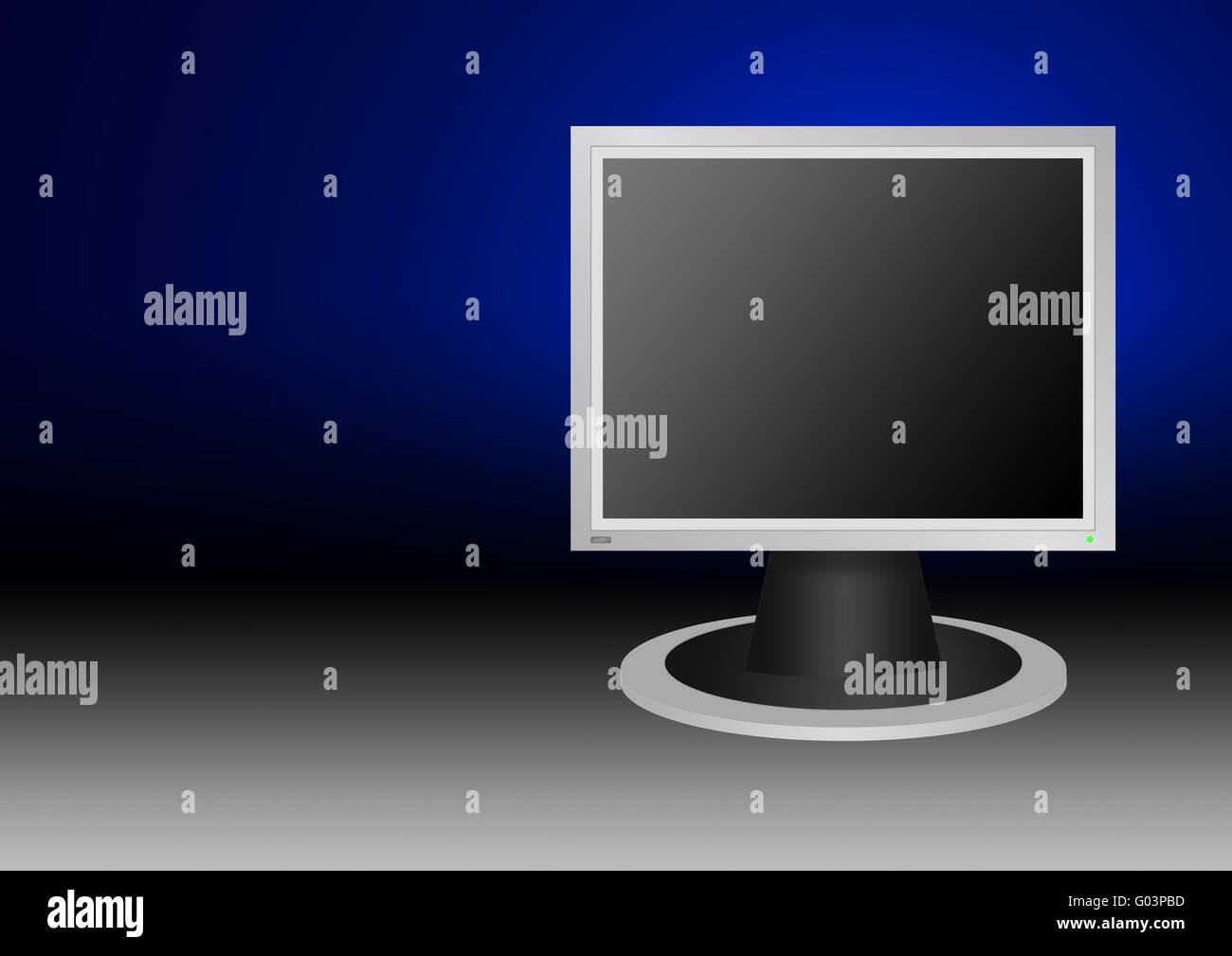 The high resolution of image LCD of the monitor for style  background (4:39) with the button and a bulb - is included) - Stock Image