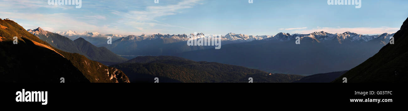 Main Alpine ridge view - Stock Image
