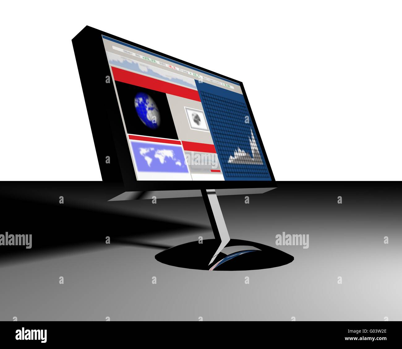 flat screen - Stock Image
