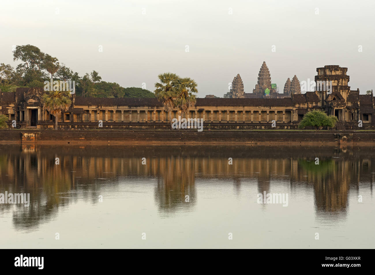 west wing of the Angkor Wat temple, Cambodia - Stock Image