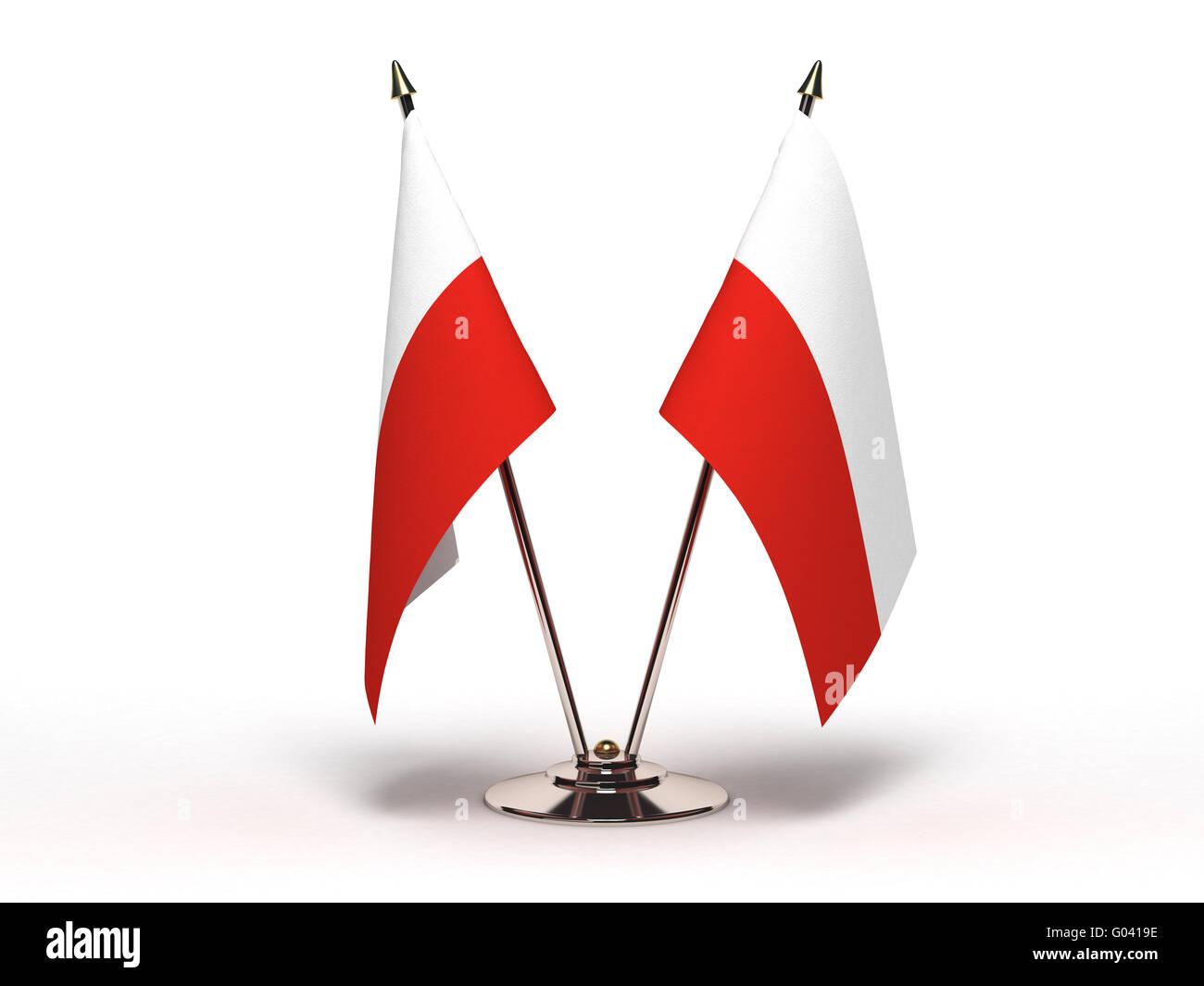 Miniature Flag of Poland - Stock Image