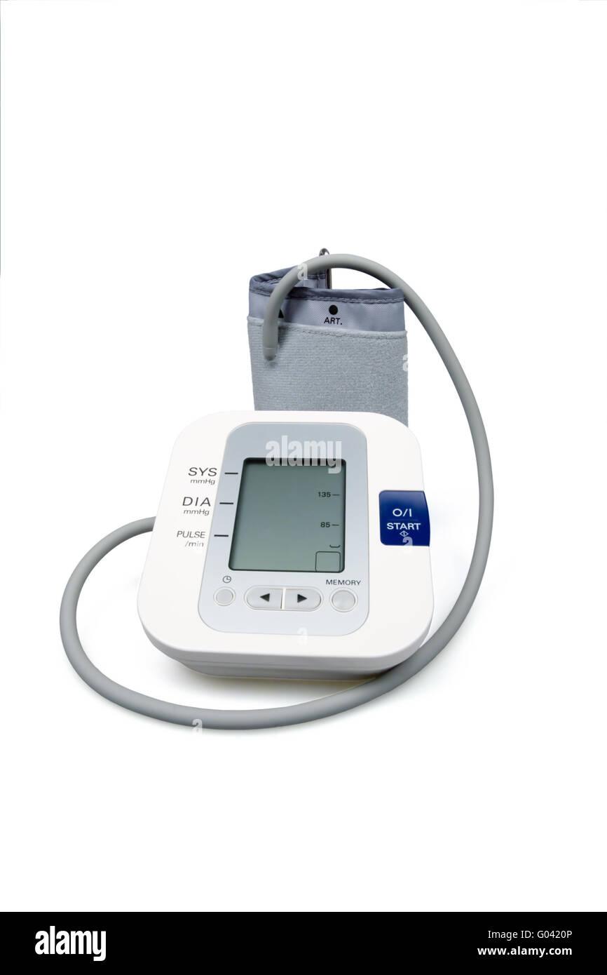 Modern tonometer for blood pressure measurement - Stock Image