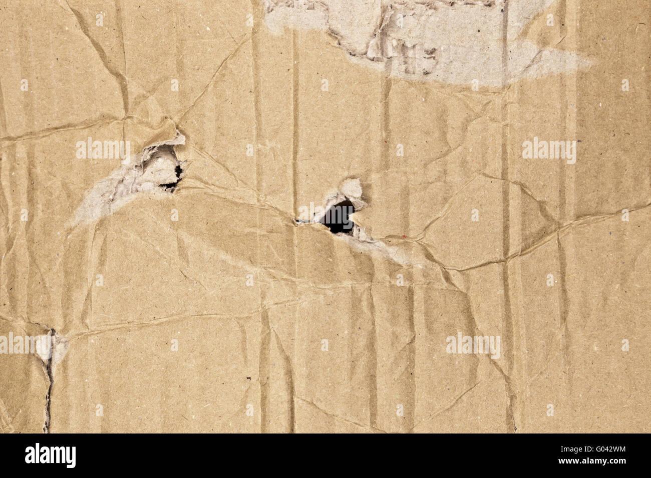 Brown corrugated cardboard texture Stock Photo