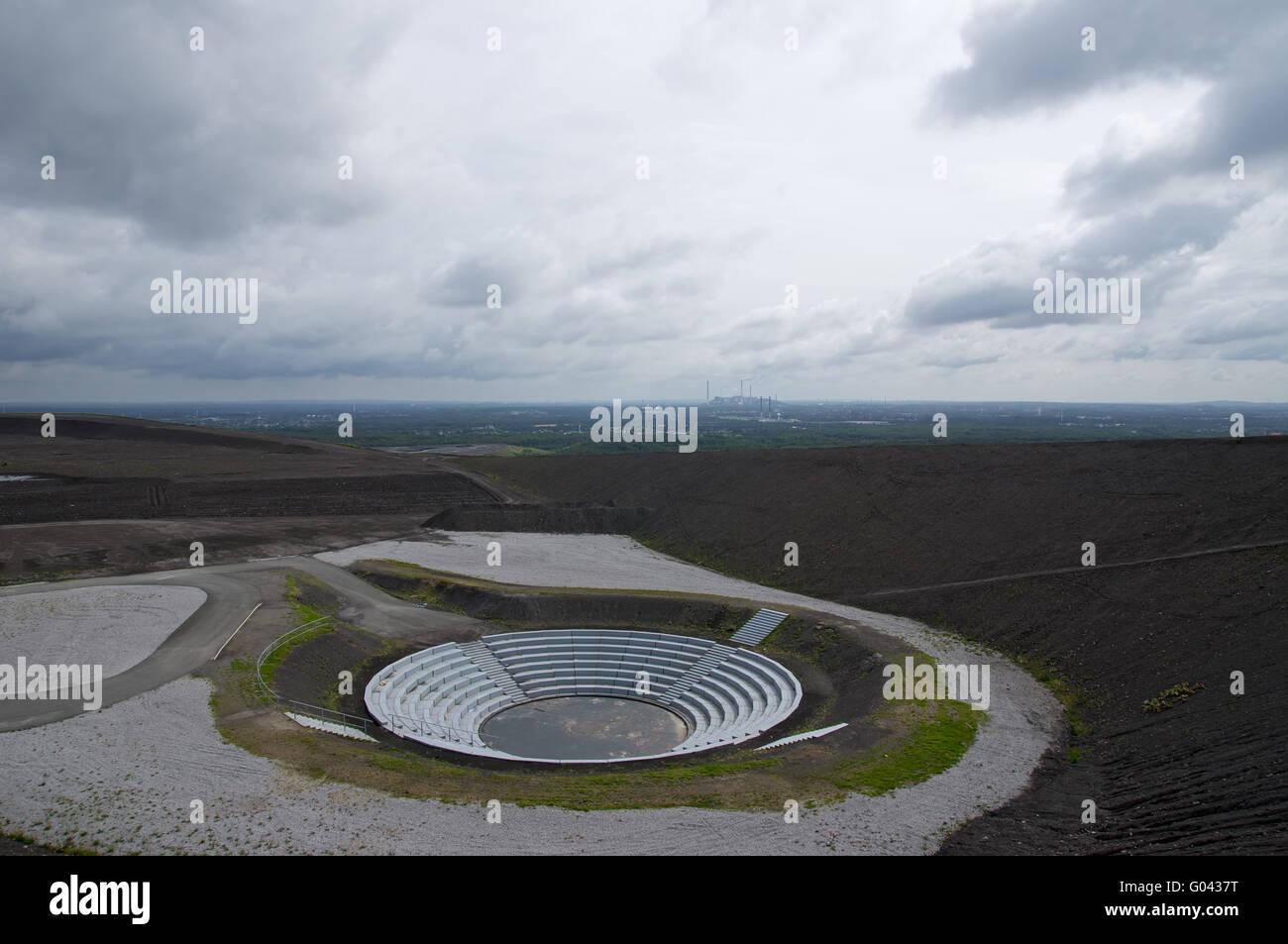 Amphitheater at the mining dump Haniel, Bottrop, G - Stock Image