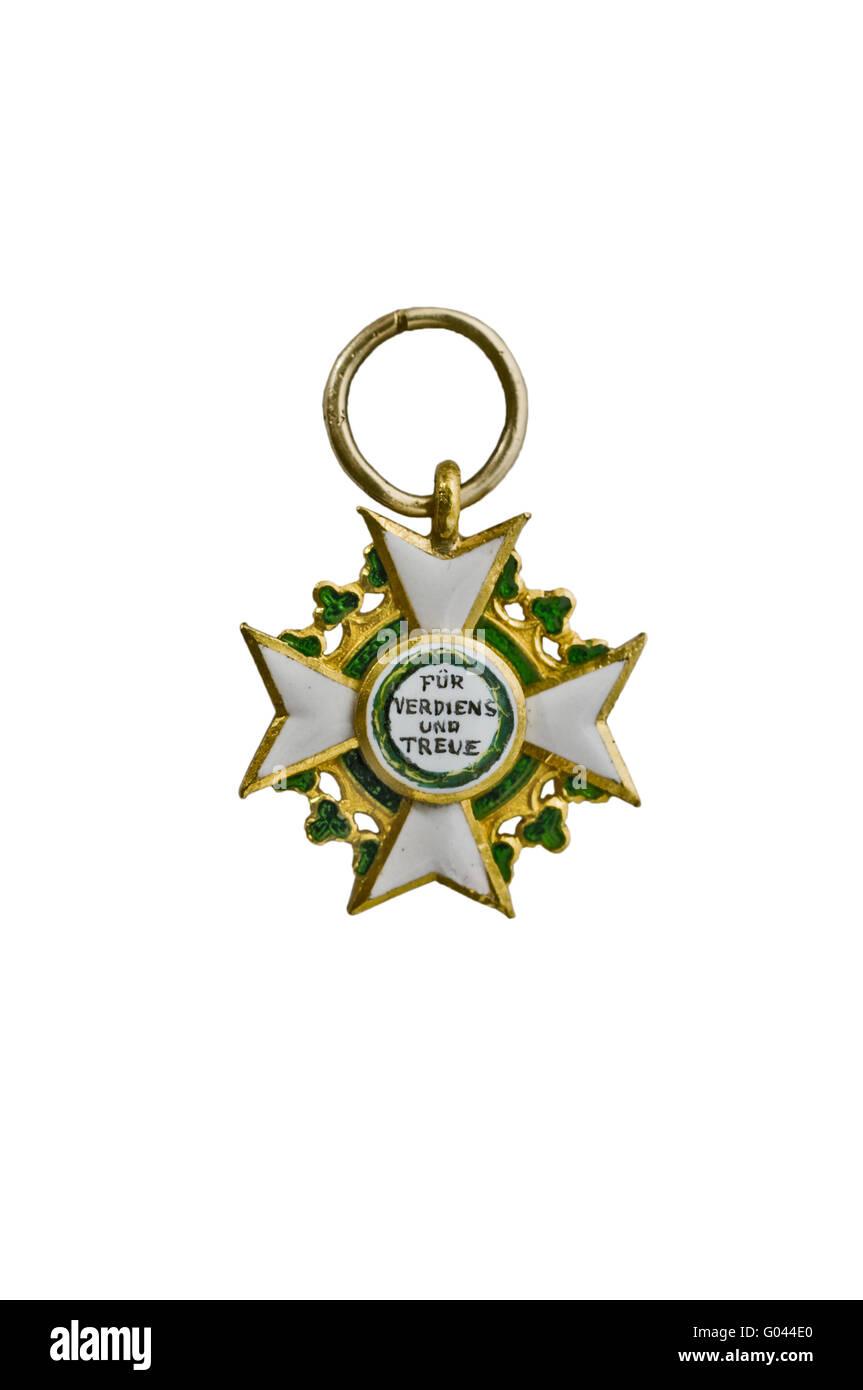 Order of the Kingdom Saxony - Stock Image