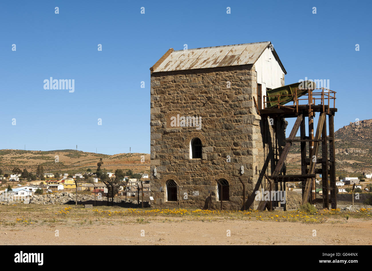 Cornish Engine Pump House, Okiep, South Africa Stock Photo